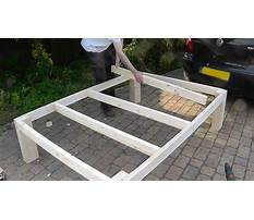 Plans for a single bed frame Plan