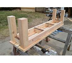 Plans for an outdoor wooden bench Plan