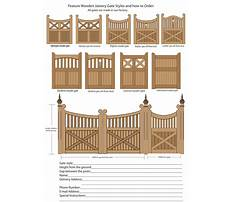 Plans for building a garden gate Plan