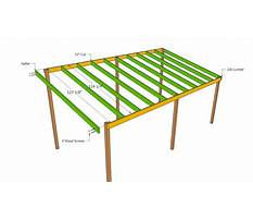 Plans for building a lean to roof Plan