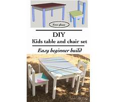 Plans for childrens table and chairs Plan