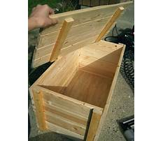 Plans for outdoor wooden storage box Plan