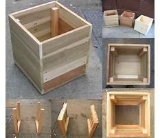 Plans to build a cedar planter Plan