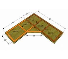 Plans to build corner desk Plan