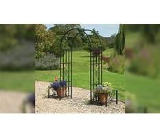 Plastic garden archway Plan