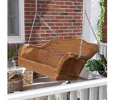 Plastic wicker porch swing Plan