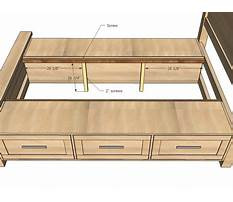 Platform bed with drawers woodworking plans Plan