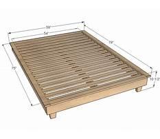 Platform full size bed.aspx Plan