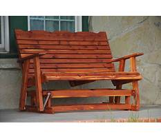 Porch glider chairs Plan