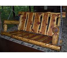 Porch swing log cabin Plan