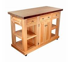Portable kitchen island butcher block Plan