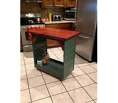 Portable kitchen island made with cabinets Plan