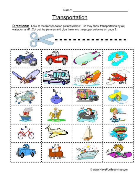 HD wallpapers transportation kindergarten worksheets Page 2
