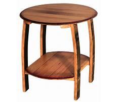 Quarter round side table shelves wood Plan