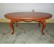 Queen anne coffee table cherry Plan