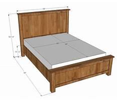 Queen bed frame plans Plan