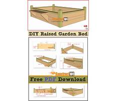 Raised garden bed building instructions Plan