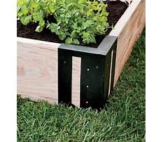 Raised garden bed corners corner bracket Plan