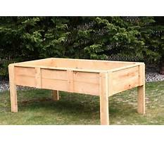 Raised vegetable beds on legs Plan