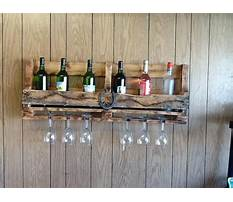 Recycled wine rack ideas Plan