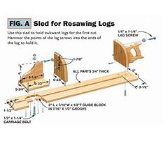 Resaw jig for bandsaw Plan