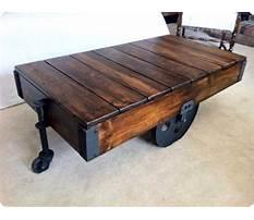 Restoration hardware industrial cart coffee table Plan