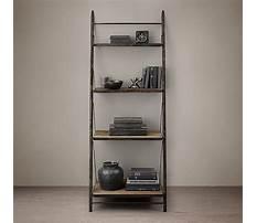 Restoration hardware leaning bookshelves Plan