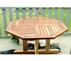 Round patio table wood Plan