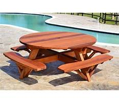 Round wooden picnic table plans Plan