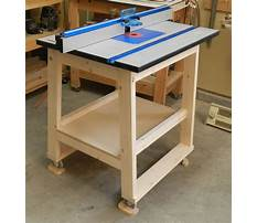 Router table tops Plan