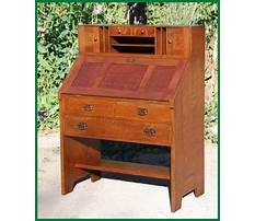 Roycroft antique drop front desk Plan