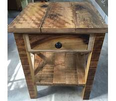 Rustic and country end tables Plan
