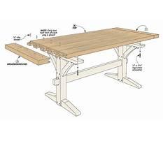 Rustic dining bench plans Plan