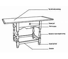 Rustic furniture parts Plan