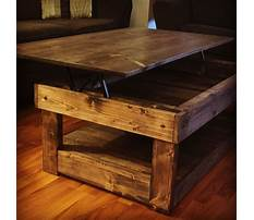 Rustic pine coffee table with storage Plan