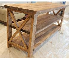 Rustic tv stand plans Plan