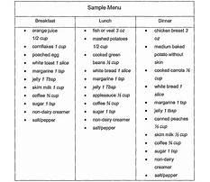 Samples of a low fiber diet Plan