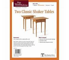 Shaker bench table Plan