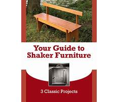Shaker furniture patterns Plan
