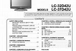 Sharp LCD TV Manuals