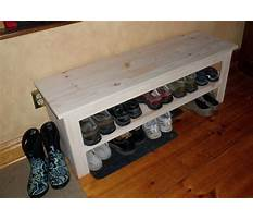 Shoe rack bench diy Plan