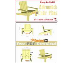 Simple chair design plans Plan
