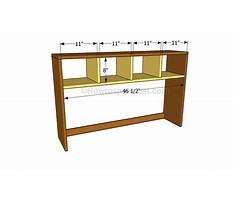 Simple desk hutch plans Plan