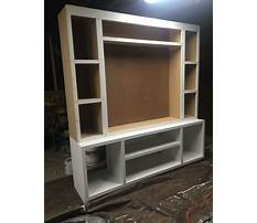 Simple shelf entertainment center Plan