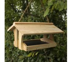 Simple wood bird feeders Plan