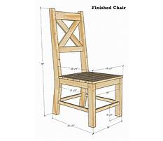 Simple wood dining chairs Plan