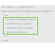 Sitemap xml formatting tags Plan