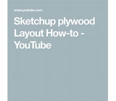 Sketchup plywood layout how to Plan