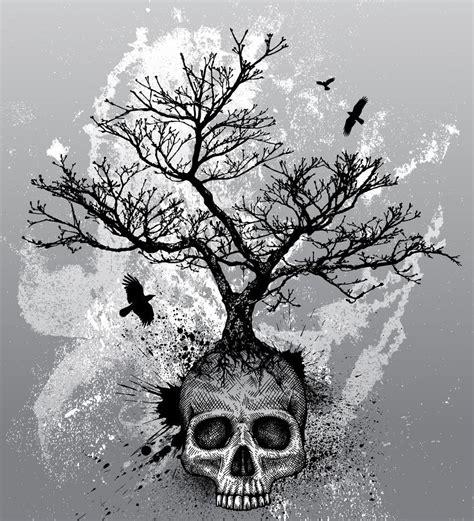 Skull Tree Life Drawing