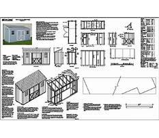 Slant roof shed plans Plan